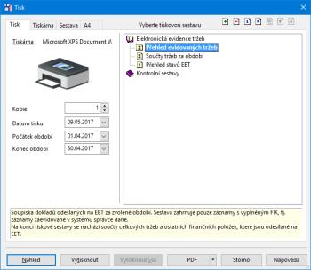 Díky nové tiskové sestavě jednodušeji zkontrolujete částky odeslané na server EET.